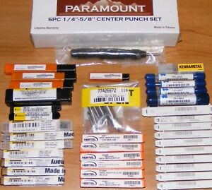 Mixed Tap Lot Osg Hertal Guhring Countersinks End Mills Punches Brand New