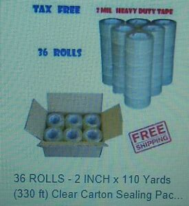 36 Rolls 2 X 330 Clear Packing Tape 110 Yards 2 Mil Acrylic Packing Tape Usa