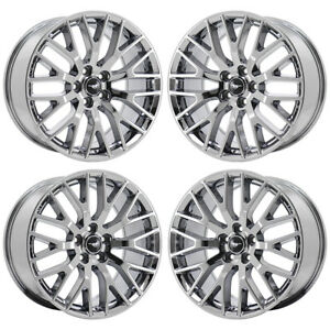 19 Ford Mustang Gt Pvd Chrome Wheels Rims Factory Oem Set 10036 10038 Exchange