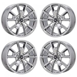 19 Ford Mustang Gt Pvd Chrome Wheels Rims Factory Oem Set 10035 10037 Exchange