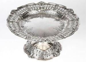 00vintage Reed Barton Sterling Silver Repousse Compote