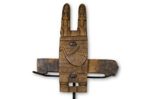 Hand Carved Figural Dogon African Door Lock 13 Mali
