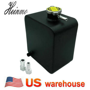 Universal 2l Aluminum Radiator Coolant Overflow Recovery Tank Bottle Polished Us