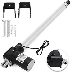 16 6000n Electric Linear Actuator 1320 Pound Max Lift Heavy Duty 12v Dc Motor