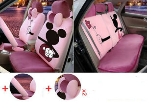 13pc set New Plush Cartoon Mickey Mouse Car Covers Universal Car Seat Cover M329