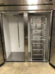 True Dbl Door Roll In Rack Refrigerator Bakery Cooler Nsf