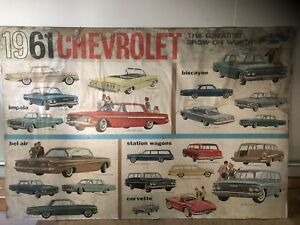 1961 Chevrolet Impala Corvette Original Gm Showroom Dealership Museum Poster
