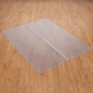 Chair Mat For Hard Floor 46 w X 60 l Straight Edge Lot Of 1