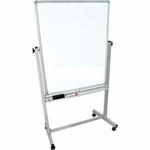 Mobile Double Sided Magnetic Whiteboard 36 X 48 Lot Of 1