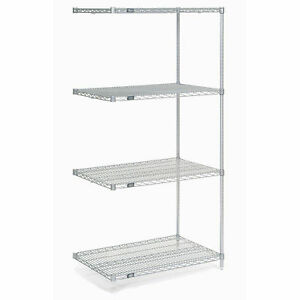 Chrome Wire Shelving Add on 24 w X 21 d X 63 h Lot Of 1