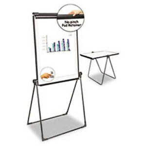 Universal 174 Foldable Double Sided Dry Erase Easel Plastic Frame 28 1 2 w X
