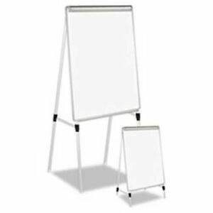 Universal 174 Adjustable White Board Easel Aluminum Frame 29 w X 41 h White