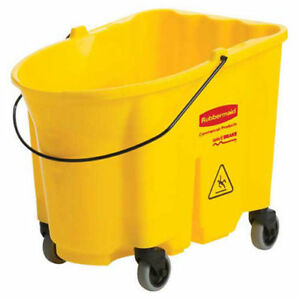 Rubbermaid Wavebrake 174 Mop Bucket Yellow Lot Of 1