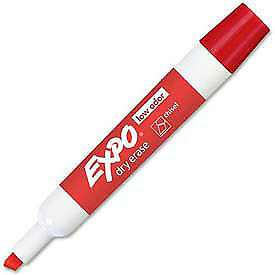 Sanford 174 Expo Low Odor Dry Erase Marker Chisel Tip Red Ink Dozen Lot Of