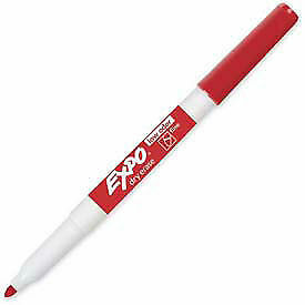 Sanford 174 Expo Dry Erase Marker Fine Nontoxic Red Ink Dozen Lot Of 1