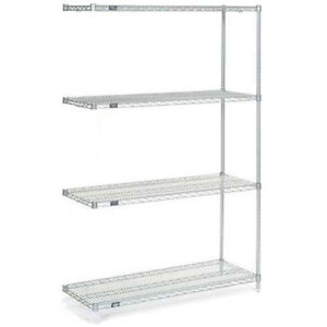 Nexelate Wire Shelving Add on Silver Epoxy 24 w X 24 d X 86 h Lot Of 1
