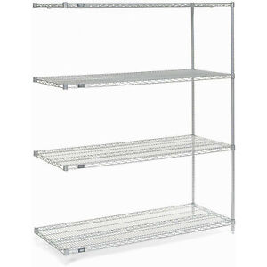 Chrome Wire Shelving Add on 36 w X 14 d X 86 h Lot Of 1