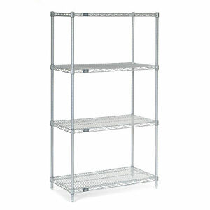 Chrome Wire Shelving 30 w X 14 d X 63 h Lot Of 1