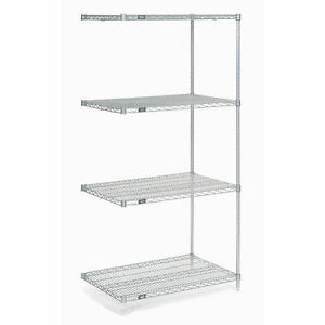 Chrome Wire Shelving Add on 30 w X 14 d X 86 h Lot Of 1