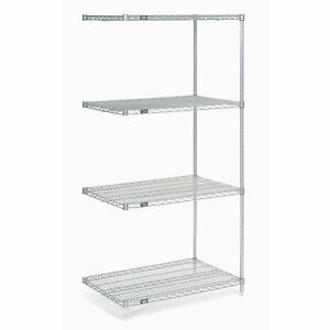 Chrome Wire Shelving Add on 36 w X 14 d X 74 h Lot Of 1