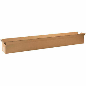 Long Cardboard Corrugated Boxes 48 X 4 X 4 65 Lbs Capacity 200 ect 32