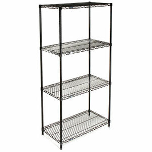 Nexel Wire Shelving Black Epoxy 36 w X 18 d X 74 h Lot Of 1