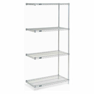 Nexel Wire Shelving Add on Poly z brite 36 w X 18 d X 74 h Lot Of 1