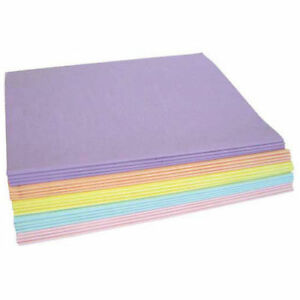 Tissue Paper Pastel Colors 480 Sheet Assortment Pack 20 X 30 Lot Of 1