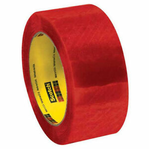 Security Tape 2 X 110 Yds 2 Mil Clear red Pack Of 6 3m 3199 Lot Of 6
