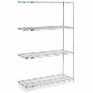 Nexelate Wire Shelving Add on Silver Epoxy 30 w X 21 d X 63 h Lot Of 1