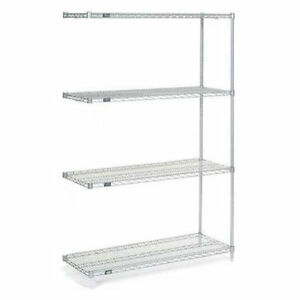 Nexelate Wire Shelving Add on Silver Epoxy 30 w X 21 d X 86 h Lot Of 1