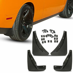 For Dodge Challenger Mud Flaps 2015 2020 Guards Splash Molded 4 Pcs Front Rear
