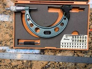 Mitutoyo Outside Micrometer 126 904 With Complete Set M And Univ Anvils 3 4 Q81