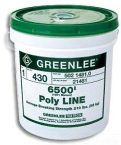 Greenlee Textron 37959 Poly Tracer Fish Line 2200 feet Red