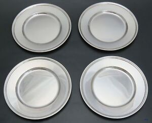 1907 1947 Antique Vintage 4 Tiffany Co Sterling Silver Bread Butter Plates