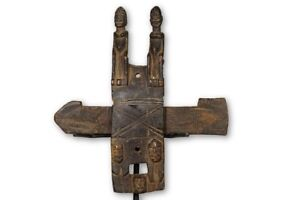 Sculpted Figural Dogon Door Lock 12 Mali African Art