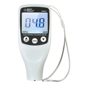 Auto Car Digital Paint Coating Thickness Gauge 0 1700um Tester Fe nf Probe Y7x4