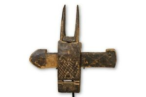 Charming Figural Dogon Door Lock 15 5 Mali African Art