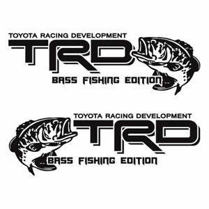 Trd Toyota Tacoma Fish Sticker Vinyl Decals Stickers Bass Fishing Edition