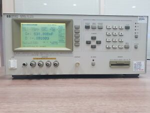 Agilent hp 4285a 75 Khz 30 Mhz Precision Lcr Meter With Option 201