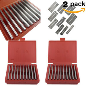 2 Pack 10 Pairs Steel Precision Parallel Set 1 8 Thick 6 Long Be