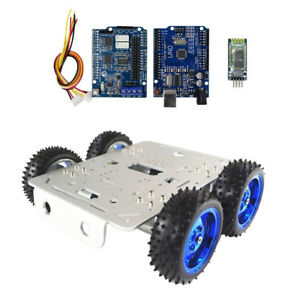 Smart Dc 15v Robot Car Chassis Compatible With Arduino Bluetooth Driver Kit