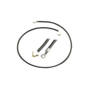 Spark Plug Wire Set Black With Ring Ends V8 Ford Commercial