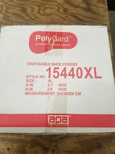 Polygard Disposable Shoe Covers Style No 15440 Size Xl Blue Qty 400 1 Case