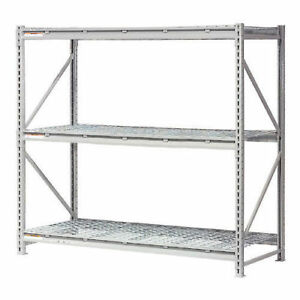 Extra High Capacity Bulk Rack With Wire Decking Starter Unit 96 w X 18 d X
