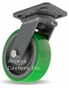 S wh 6db 6 X 2 Hamilton Swivel Plate Caster Duralast On Cast Iron Wheel