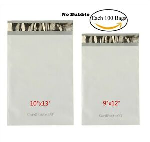 200 Bags Each 100 9x12 10x13 Poly Mailers Shipping Envelopes Self Sealing Bags