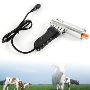 Electric Calf Dehorner Iron Bloodless Horn Cattle Lamb Farm Fast Heating Tool
