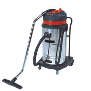 Nzl 220v 3000w 80l Commercial Industrial Vacuum Cleaner Wet Dry Stainless Steel