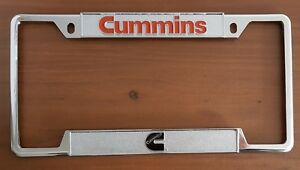 Dodge Cummins Logo Diesel Engines Chrome Plated Novelty License Plate Frame Tag